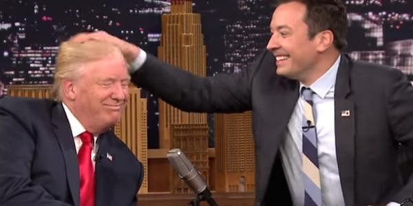 jimmy fallon messes up donald trumps hair